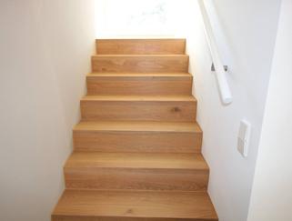 Treppe mit Parkett